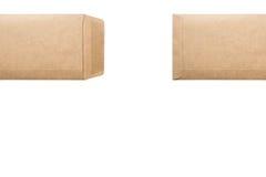 brun kuvertwhite för bakgrund Royaltyfria Foton