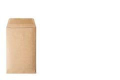 brun kuvertwhite för bakgrund Arkivbilder