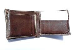 brun läderplånbok Royaltyfri Bild