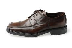 brun lädersko royaltyfri fotografi