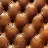 Brun lädersoffatextur Royaltyfri Bild