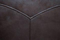 Brun lädertextur kan använt som bakgrund arkivbild