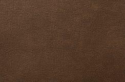 Brun lädertextur som bakgrund Royaltyfri Fotografi