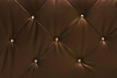 brun läderupholstery Royaltyfri Fotografi
