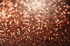 Brun ljus abstrakt bokehbakgrund Arkivbild