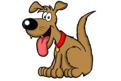 brun lycklig tecknad filmhund Arkivfoton