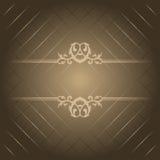 brun lyx för bakgrund royaltyfri illustrationer