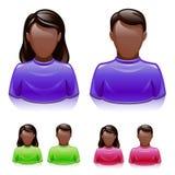 brun mananvändarekvinna stock illustrationer