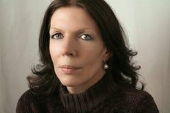 brun medelkvinna för ålder Royaltyfri Fotografi
