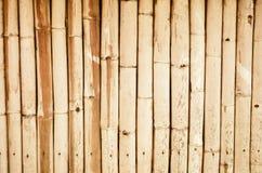 Brun modell av bambuväggen Royaltyfria Bilder