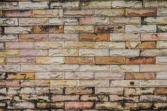 Brun modell för tegelstenvägg, Closeup som visar textur Arkivfoton