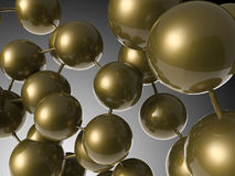 Brun molekylstruktur Fotografering för Bildbyråer