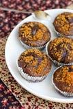 brun muffin Arkivfoton