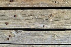 Brun naturel criqué de vieille texture en bois Photos libres de droits