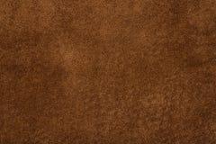 brun naturlig suedetextur för bakgrund Royaltyfri Bild