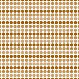 Brun och vit polkaDot Abstract Design Tile Pattern repetition B Arkivbilder