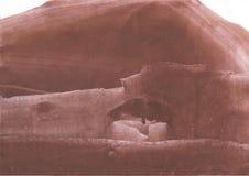 Brun oklar design för washteckning Royaltyfri Bild