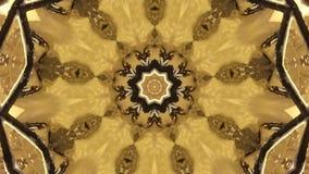 Brun oskarp fractalpoligon arkivfilmer