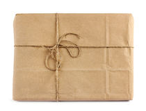Brun packe för postleverans Arkivfoton