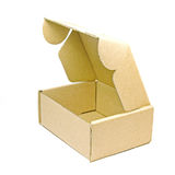 brun pappers- ask Royaltyfri Bild