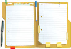 Brun pappers- mapp stock illustrationer