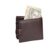 brun pengarplånbok Arkivbilder