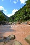 Brun peruansk flod Royaltyfria Bilder