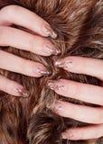 brun pink Royaltyfria Bilder