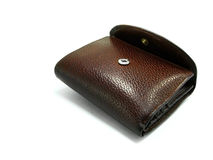 brun plånbok 2 Royaltyfria Bilder