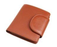 Brun plånbok Fotografering för Bildbyråer