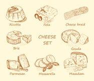 Brun réglé de fromage Image libre de droits