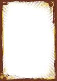 brun ramgrunge Arkivfoto