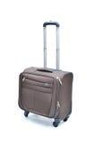 Brun resväska royaltyfria bilder