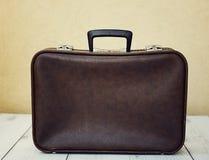 brun resväskatappning Arkivbilder