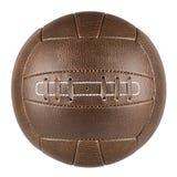 Brun retro fotbollboll Fotografering för Bildbyråer