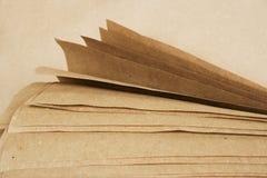 brun rulle för kraft papper Arkivbilder