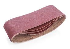 Brun sandpapper för din träverk Arkivbild