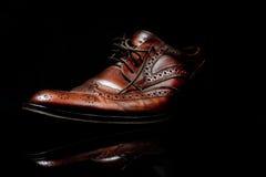 brun sko Arkivbilder