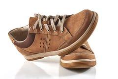 Brun sko för man` s Arkivfoton