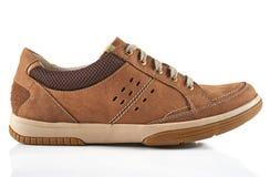 Brun sko för man` s Royaltyfria Bilder