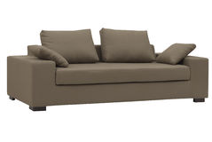 brun sofa Arkivbild