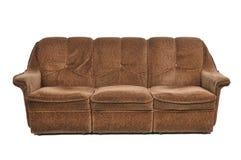 brun sofa Arkivbilder