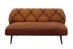 brun sofa Arkivfoto