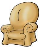 brun soffa royaltyfri illustrationer