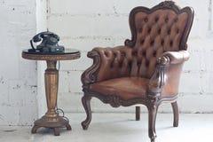 brun stol Arkivfoto