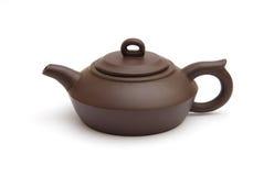 brun teapot Royaltyfri Fotografi