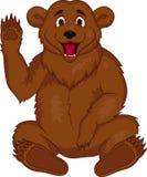 brun tecknad film för björn Arkivfoton