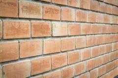 Brun tegelstenbakgrund för närbild Royaltyfri Fotografi