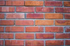 Brun tegelstenvägg Arkivbild