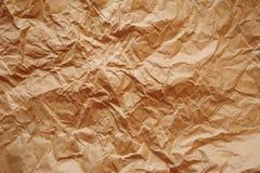 Brun textur av skrynkligt papper Royaltyfria Foton